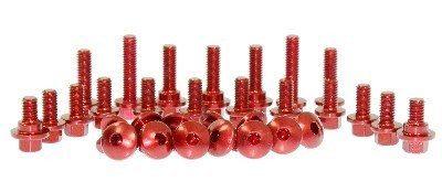 Tornilleria plasticos rojo