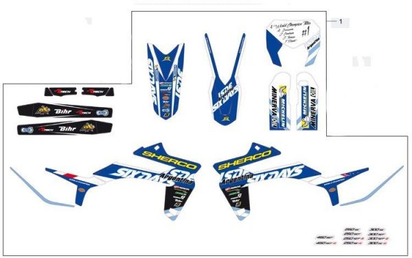 Kit adhesivos Sherco Six Days 2015