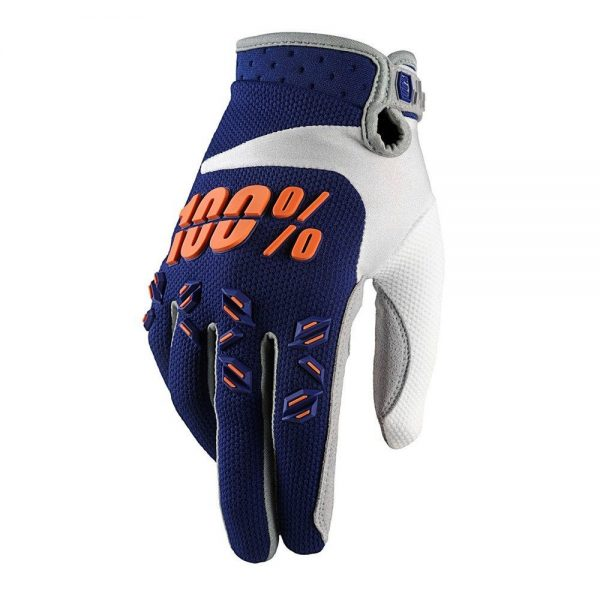 Guantes 100% Airmatic Navy / Orange