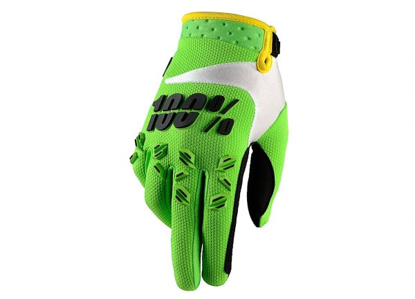 Guantes 100% Airmatic Lime Green
